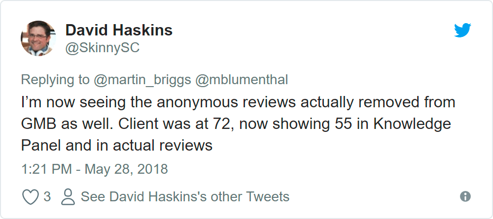 how to make an anonymous review on google
