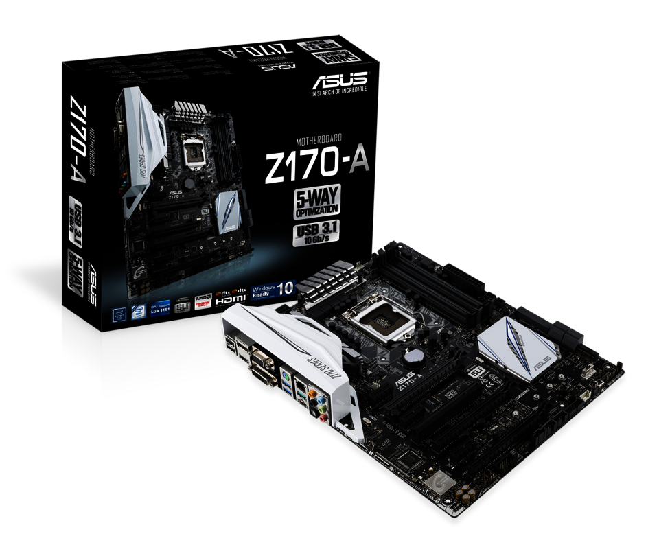 asus z170 a atx ddr4 motherboards review