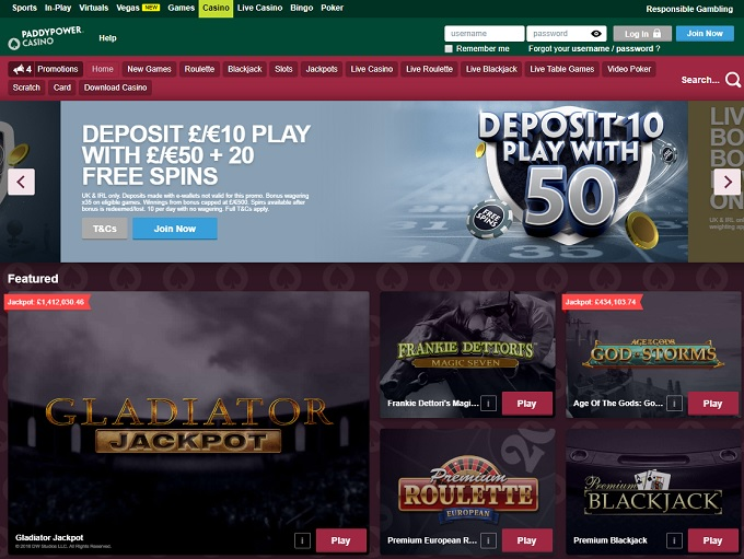 paddy power online casino review