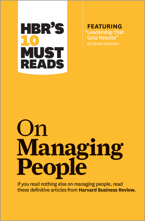 harvard business review on managing people