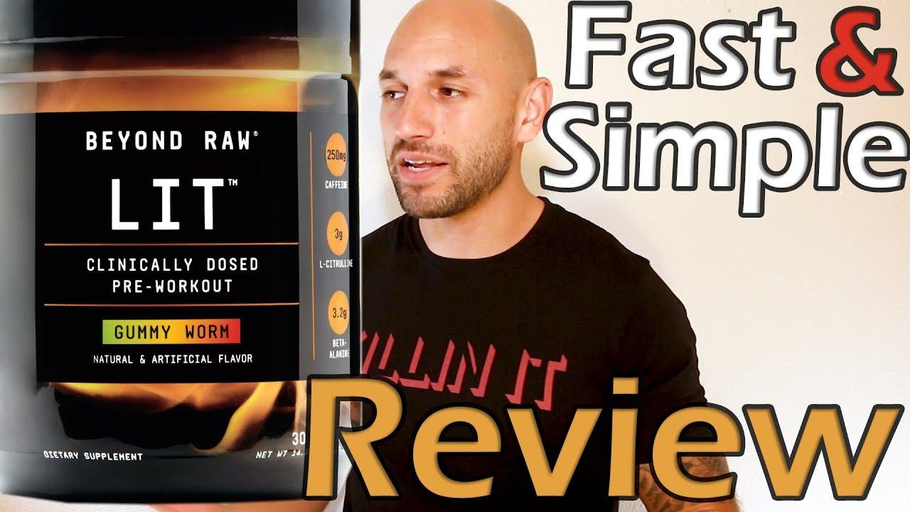 beyond raw lit pre workout review