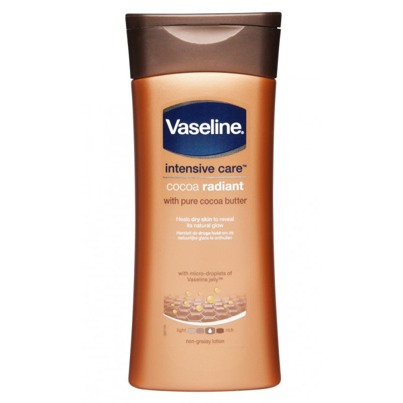 vaseline intensive care cocoa radiant body gel oil review
