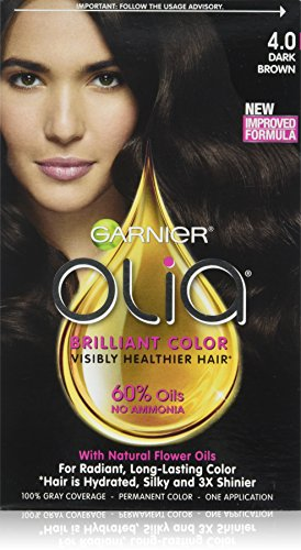 garnier dark brown hair color review