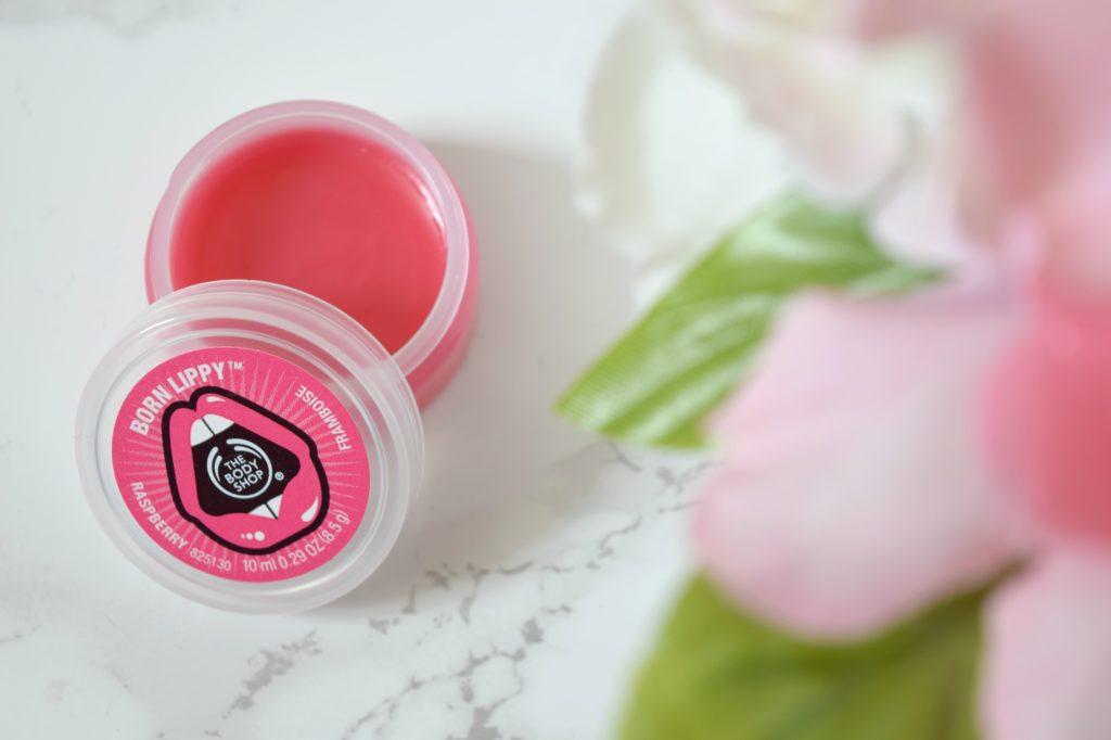body shop born lippy lip balm review
