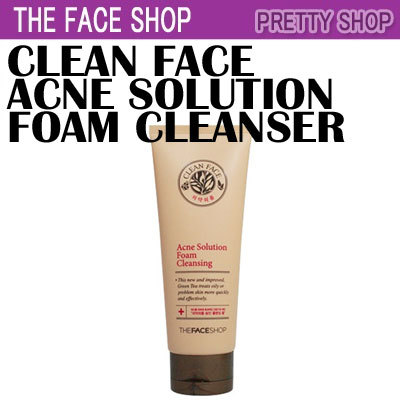 the face shop acne solution foam cleansing review